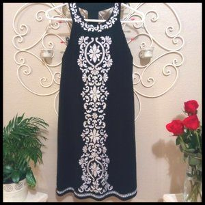 NEW - INC Inc. Embroidered High Neck Dress